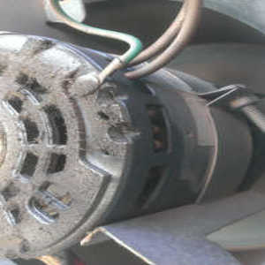 fan motor leaking oil