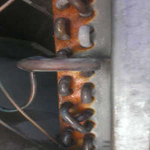 rusted indoor coil