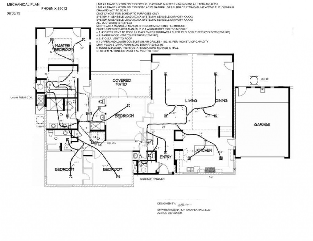 hvac mechanical plan